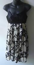 BCBG Max Azria MAXAZRIA Black White Silk Floral Dress 2 - $36.00