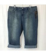 INC Denim Womens Regular Fit Crop Capri Jeans Cotton Stretch Plus Size 22W - $38.08
