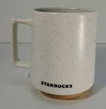 Starbucks Abbey Mug White Stone Wood Bottom 16 OZ Coffee Cup Desk Mug 2017 - $14.84