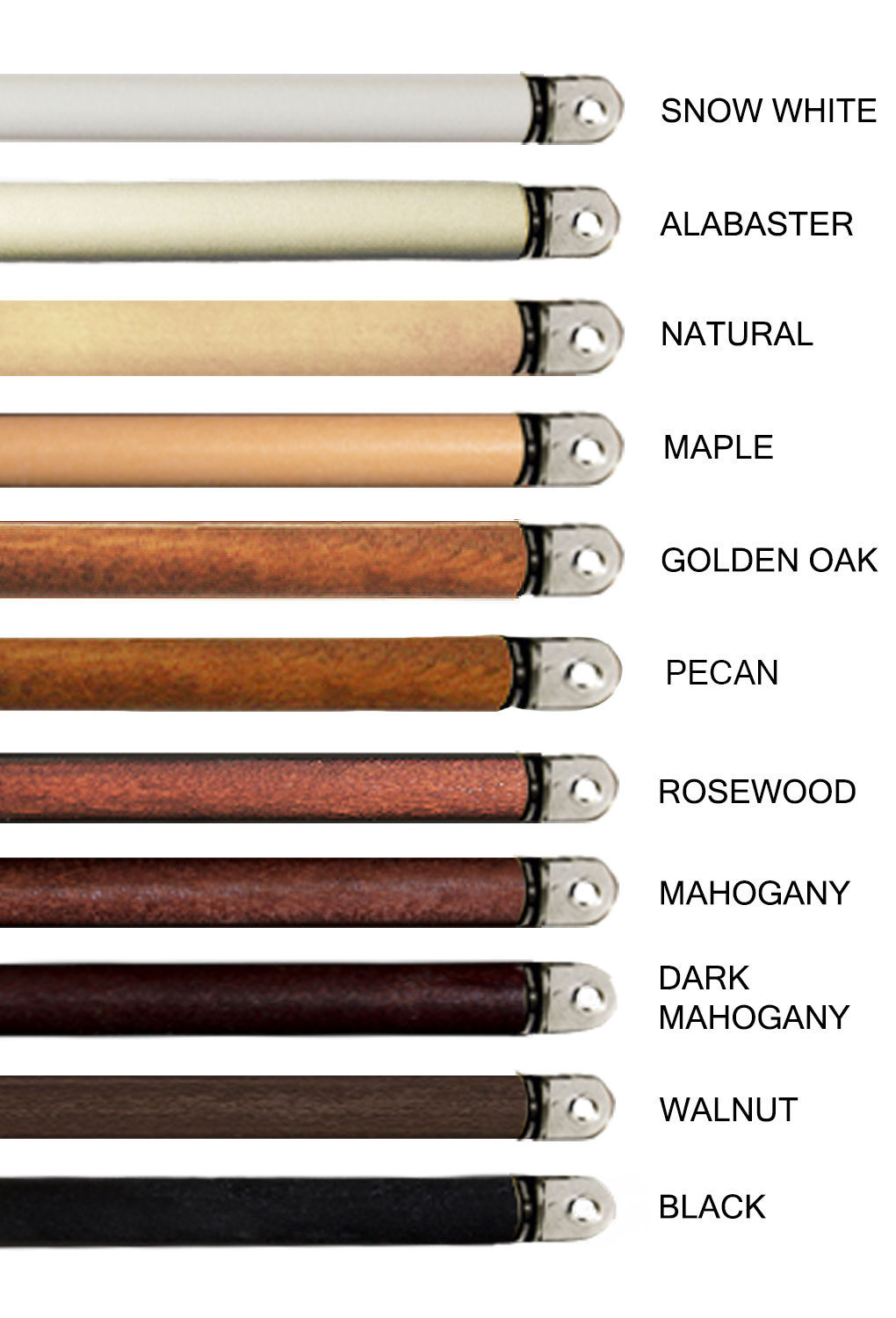 "Used, 3 Pack- Wooden Replacement Wands for Blinds. 12 colors 4 sizes: 24"" 30"" 36"" 48"" for sale  USA"