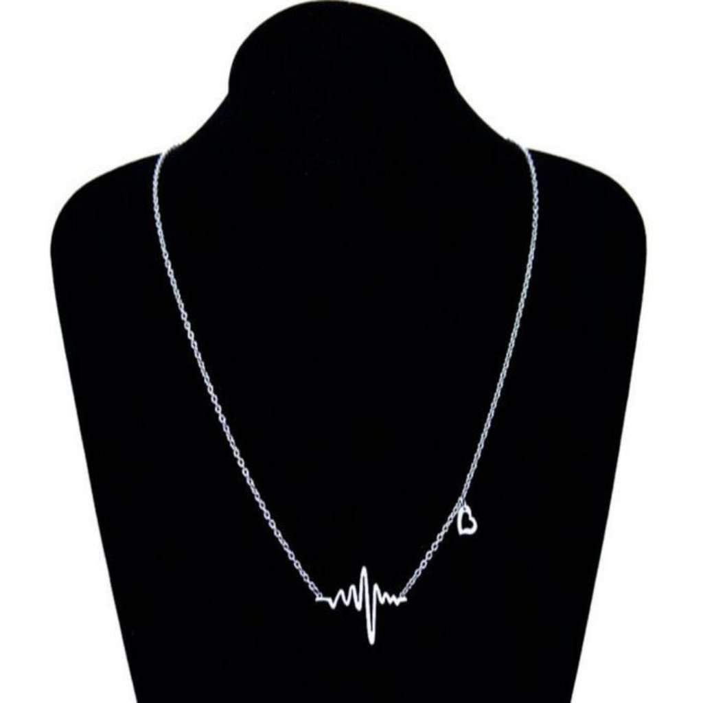 Heart Beat Chain Women Necklace