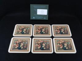 Jason Products (6) Coasters Old Fashioned Roses Cork Backs Orig Box New ... - $15.99