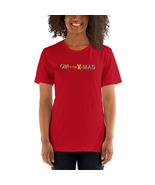 Merry X-MAS Short-Sleeve Unisex PREMIUM T-Shirt - Red or Green (Leaf) - $21.55+