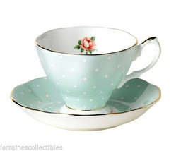 Royal Albert POLKA ROSE 100 YEARS COLLECTION TEA CUP & SAUCER (S) NEW  - $39.59