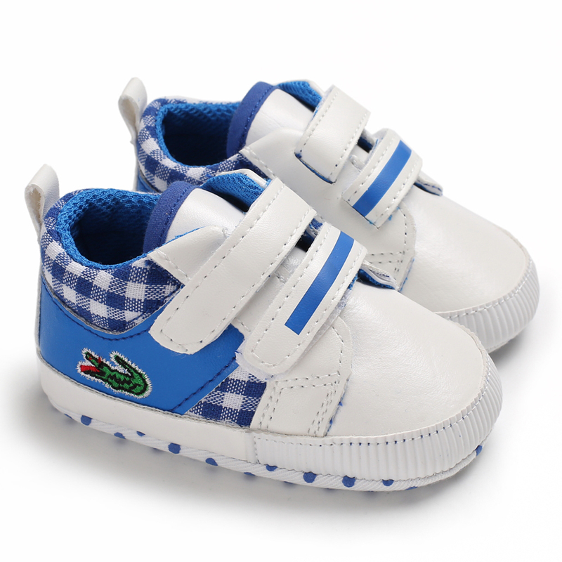 Free Shipping Blue Baby Walking Shoes Leather Toddler Shoes Size 1,2,3 L6482