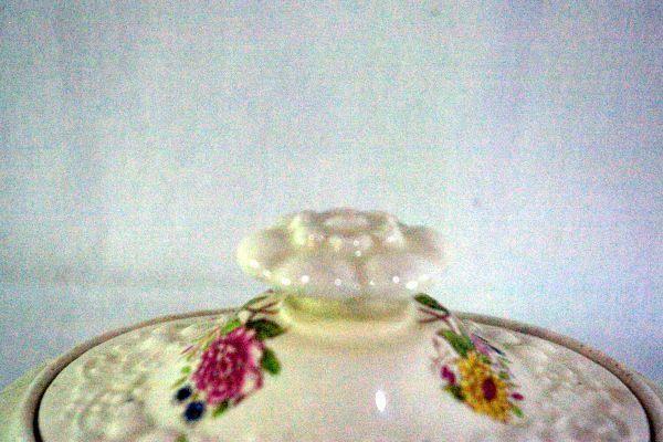 Homer Laughlin Floral TH6 M47N5 Covered Sugar Bowl image 4