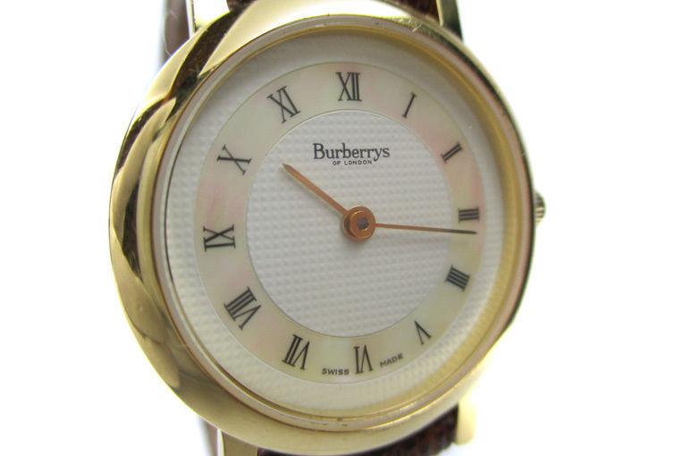 Authentic BURBERRYS 6000L White Dial Leather Band Quartz Ladies Watch BW8007L