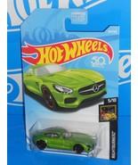 Hot Wheels 2018 Nightburnerz Series #264 '15 Mercedes-AMG GT Green w/ PR5s - $2.50