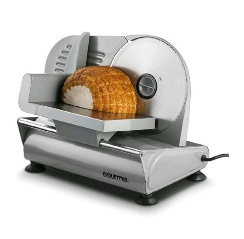 Electric Meat Slicer Commercial Machine Cheese Food Cutter Stainless Steel Blade