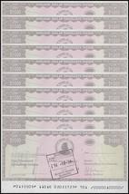 Zimbabwe 1,000 Dollars Cheque Amount Field X 10 Pieces (PCS), 2003, USED - $39.99
