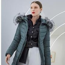 Women's Famous Brand Designer Full Length Quilted Fur Lined Hooded Puffer Parka