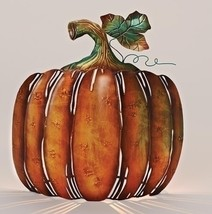 "Roman 13"" Autumn Burnt Orange Green Metal Pumpkin Table Votive Candleholder - $46.27"