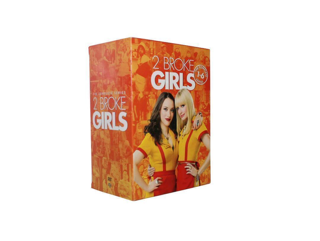 2 Broke Girls The Complete Series Seasons 1 2 3 4 5 6 (New DVD 2017 17-Disc Set)
