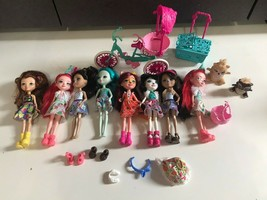 Rare Huge Lot Mattel Enchantimals Dolls Pets/Animal Accessory Bike For Two - $24.70