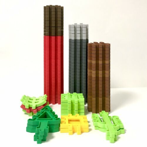 Little Tikes Waffle Blocks Lot of 96 Wee Construction Building Pieces and Trees - $32.18