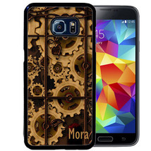 Personalized Case For Samsung S9 S8 S7 S7 S6 Plus Rubber Steampunk Gears Cogs - $13.98