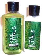 Bath and Body Works Body Lotion 2in1 Hair Body Wash Men Mens White Citru... - $29.99