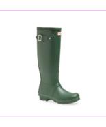 HUNTER Original Tall Waterproof Rain Boot, Green, Sz 9 (uk 7) - $99.00