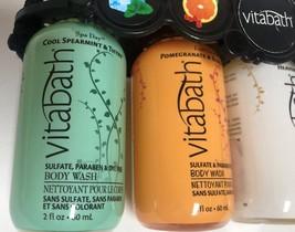 Vitabath Gift Set Body Wash 4-2 OZ Bottles Spearment Orange Coconut Lavender image 5