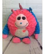 TY Monstaz DELILAH Blue Pink Talking Unicorn Monster 12in Big Plush Stuf... - $16.69