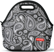 Neoprene Lunch Tote, Insulated Thermal Lunch Bag with Zipper, Paisley - $9.99