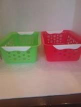 2 Plastic Baskets - $10.66