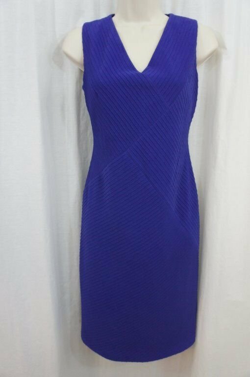 Anne Klein Dress Sz 4 Ultra Violet Purple Sleeveless Business Cocktail Party image 3