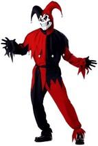 California Costumes Men's Adult- Red Evil Jester, Black/Red, M (40-42) C... - £35.98 GBP