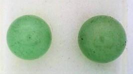 Green Aventurine Gemstone 8mm Stud Earrings - $8.03