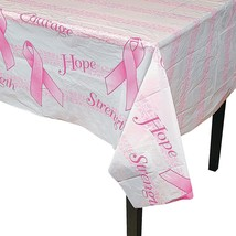 "Breast Cancer Awareness Plastic Tablecloth (54"" x 72"") - $6.64"