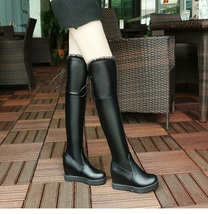 9CB153 Sexy 7 CM heels over-the-knee wedge boots,size 4-9, black - $78.80