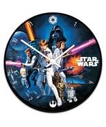 Star Wars Original Movie A New Hope Poster Cordless Wall Clock NEW SEALED - $24.18