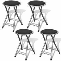 vidaXL 4x Stools Foldable Steel Frame Home Bar Living Room Kitchen Chair... - $47.99