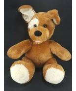 "Build A Bear light Brown White Tan Puppy Dog Plush 13"" Stuffed BABW sitting - $13.85"