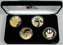 Alaska Mint 4 WOLF SET Gold & Silver Medallion Proof - $392.03