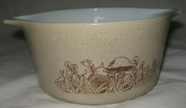 Vintage Pyrex Casserole Bowl Forest Fancies Mushroom 1 Quart  473-B  No Lid - $8.87