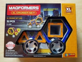 Magformers XL Cruiser Magnetic Construction Set 32 Pc #63073 Educational... - $36.62