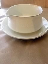 Crown Victoria Gravy Boat Lovelace  Fine China With Under Plate Kitchen ... - $14.92