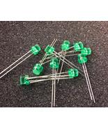 5mm Flat top 5mcd diffused sprial len green LEDs   -40pcs [ L433GDT ] - $1.13