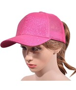 Beurlike Ponytail Baseball Cap High Bun Ponycap Adjustable Mesh Trucker ... - $12.27
