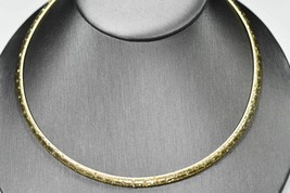 14K Italy Yellow Gold Omega link Necklace Sparkling Enhancments 22.2g Wo... - $1,395.00
