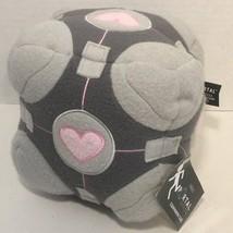"Valve Portal Critters Companion Cube 7"" gray plush block pink heart NWT  - $24.74"