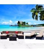 9 PC PE Rattan Wicker Patio Furniture Sofa Sectional Set w/ Lounge Chair... - $849.99
