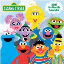 """Sesame Street 2021 10""""x10"""" 16-Month Wall Calendar"""