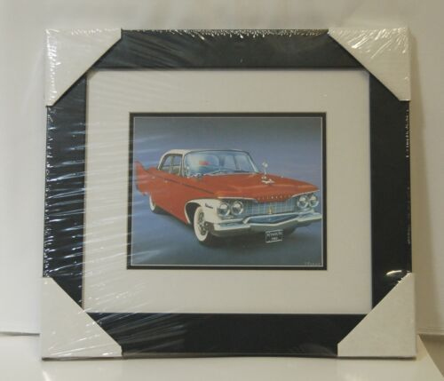Made On Earth 6716 1960 Red Plymouth Belvedere Matted Framed Serial 3624513