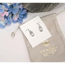Kendra Scott Lee Slate Cat's Eye Drop Dangle Earrings NWT - $49.01