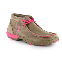 Women's Twisted X Pink Breast Cancer Driving Mocs D Toe - WDM0012 - $91.15
