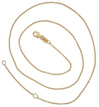 18K ROSE GOLD CHAIN, 1.0 MM ROLO ROUND CIRCLE LINK, 15.7 INCHES, MADE IN ITALY image 2