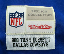 TONY DORSETT / HALL OF FAME/ AUTOGRAPHED DALLAS COWBOYS THROWBACK JERSEY / COA image 6