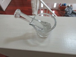 "Rx , Pharmacy , Glass Mortar & Pestle , 3 1/4""Diameter , 2 1/2'High , Pe... - $20.00"